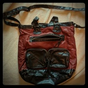 Rust colored, faux leather purse